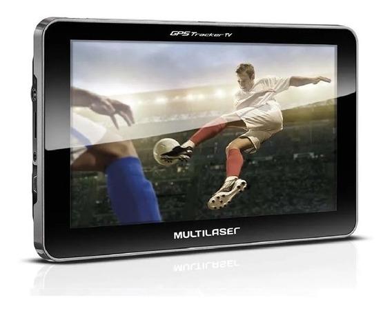 Navegador Gps Multilaser Tracker Tela 7 Pol Tv Digital