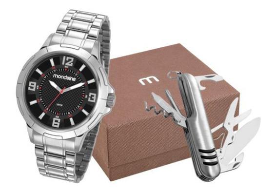 Kit Relógio Mondaine Masculino 83398g0mvne1ka