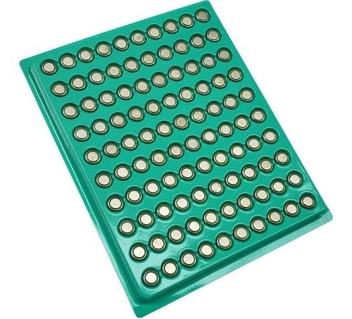 Imagem 1 de 1 de Cartela Com 100 Baterias Para Relógio Ag1 Sr621 Lr620 Ag1