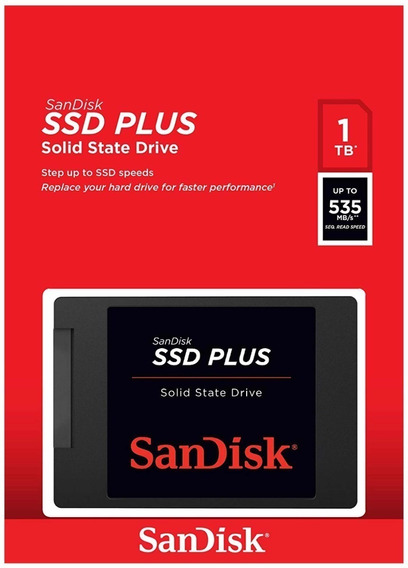 Ssd Sandisk Plus 1000gb 1tb 535mb/s G26 Notebook + Nfe