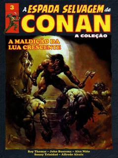 A Maldição Da Lua Crescente: Col. A Espada Selvagem De Conan