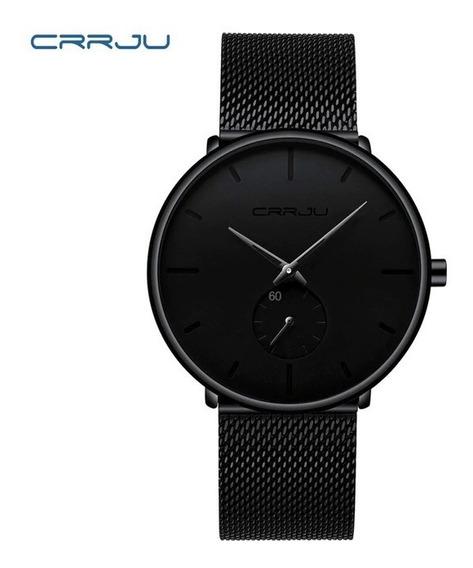 Relógio Masculino Luxo Crrju Casual Com Caixa Original