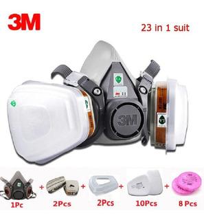 Respirador Mascara Pintura 3m 6200 5n11 501 Completa 23itens