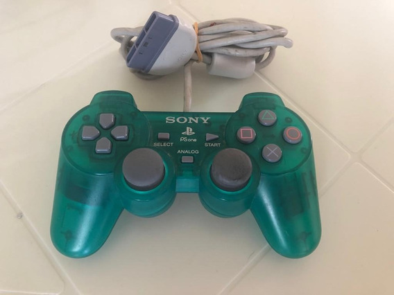 Controle Playstation Verde Translúcido Ps1 Original