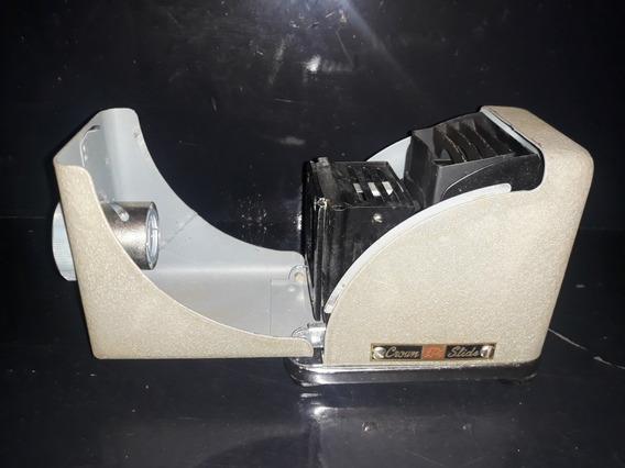 Lindo Projetor Portátil Slides Antigo 35mm Crown Não Leica