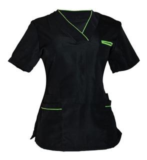 Filipina Quirúrgica Medizin Para Dama Color Negro Con Verde