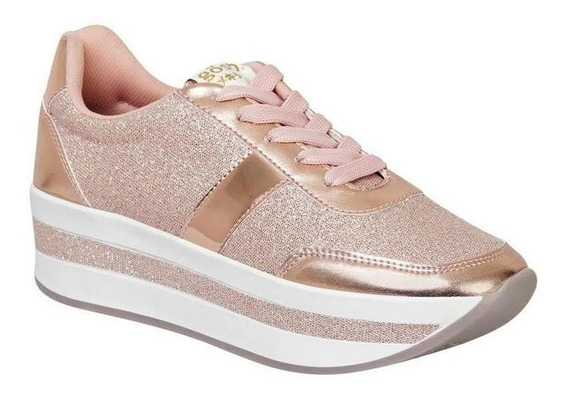 Tenis Gosh Mujer Rosa Textil 034he 01