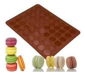 Imagen 1 de 4 de * Molde Tapete Silicon 48 Macarrones Chocolate Gourmet