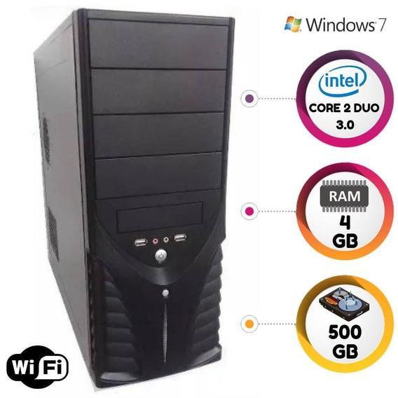 Computador Intel Core2duo 3.0ghz 4gb Hd500gb Windows 7 Wifi