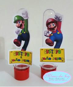 Kit Super Mario Bross 150unid.tubete Latinha Garrafinha