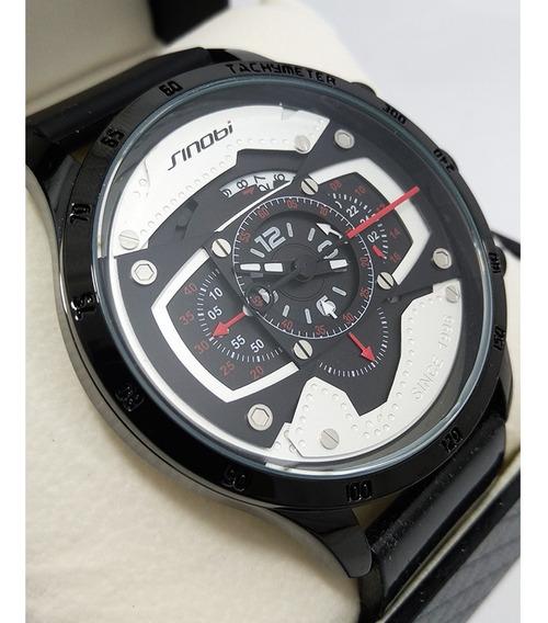 Relógio Sinobi 2019 Branco Masculino Original 100% Funcional