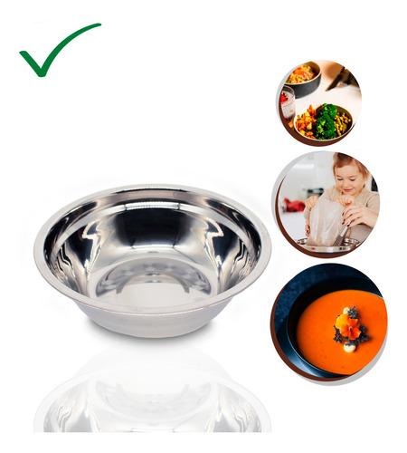 Imagem 1 de 7 de Bacia Saladeira Inox Tigela Bowl Resistente Casa E Cozinha