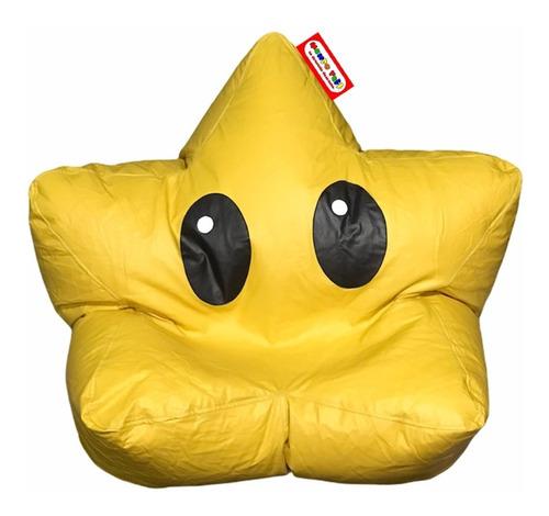 Puff Estrella Con Ojos Tipo Nintendo Soporta Hasta 85kg