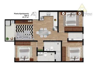Apartamento Com 3 Dormitórios À Venda, 76 M² Por R$ 250.000,00 - Itajuba - Barra Velha/sc - Ap0559