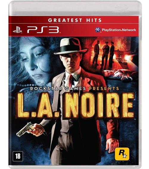 Jogo Playstation 3 L. A. Noire Ps3 Novo Lacrado