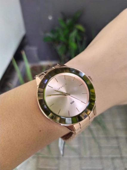 Relógio Lince Original Novo Lançamento Cor Rosê