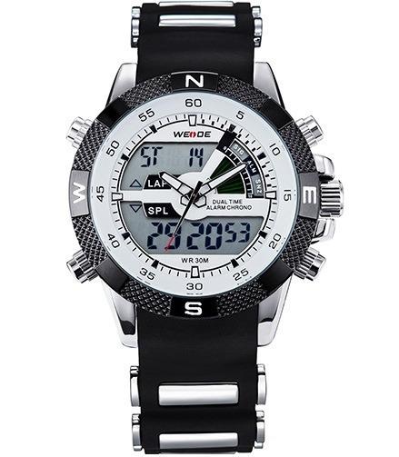 Relógio Masculino Weide Wh1104-9c, Alarme, Led, Cronômetro
