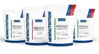 Kit 3 Palatinose 1kg + Creatine 1kg Newnutrition