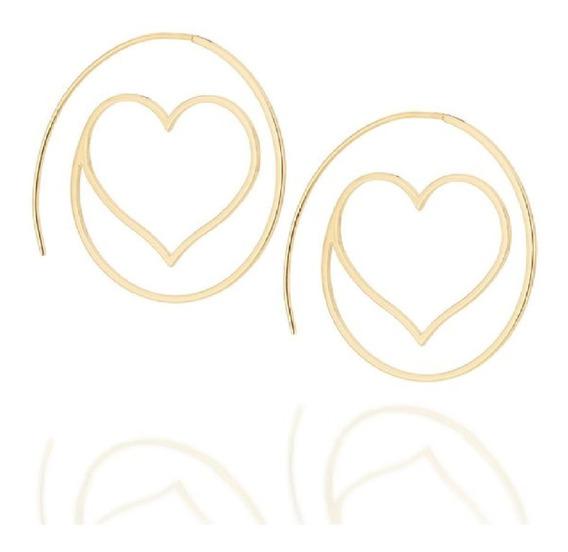 Brinco Argola Arroba Coração Rommanel Love Collection 525837