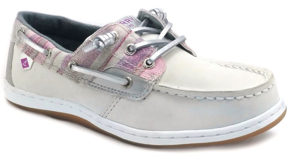 Zapatos Sperry Song Fish Blanco Nauticos Piel Niña Oferta