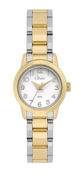 Relógio Feminino Condor+colar E Brincos Orig. Co2035kwz/k5b