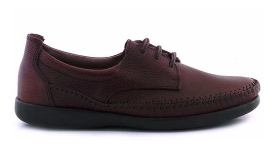 Náutico Hombre Zapato Confort Goma Cuero Briganti Hcna01271