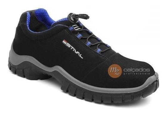 Sapato Segurança Preto/azul Energy Estival Com Ca En10021