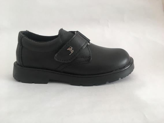 Zapato Colegial Cuero Abrojo Marcel 27-41