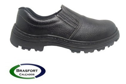 Sapato Elastico Segurança Couro Bico Pvc E Ca