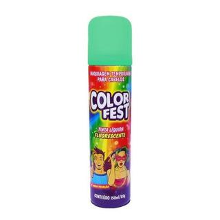 Color Fest Tinta Para Cabelo Fluorescente Verde 150ml/85g