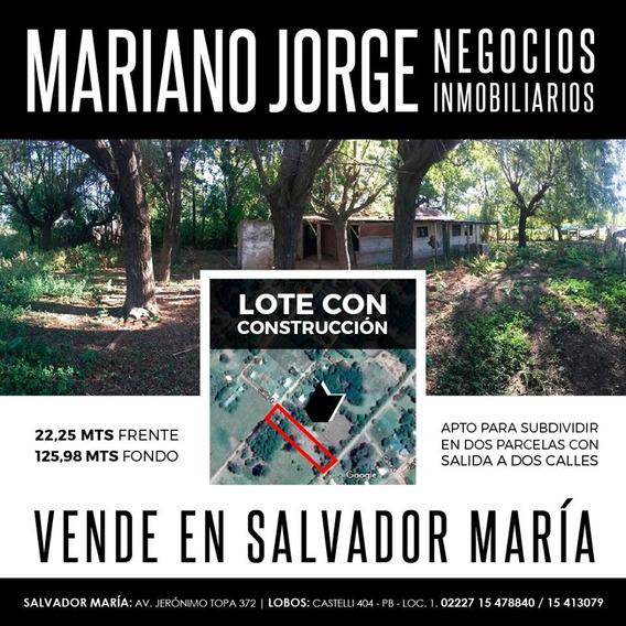 Lote En Salvador Maria