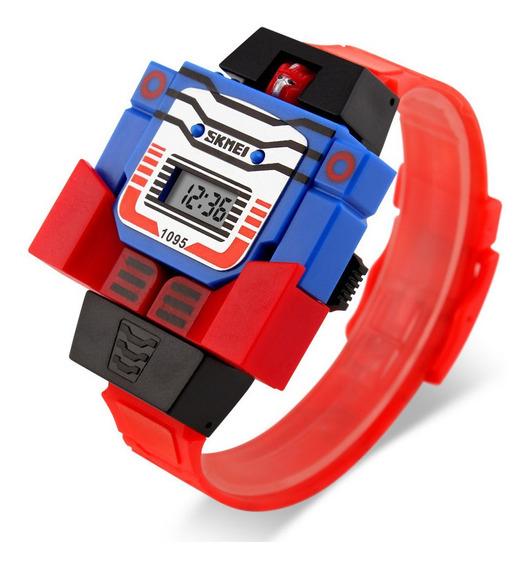 Reloj Skmei 1095 Niños Infantil Moda Robot Transformer S