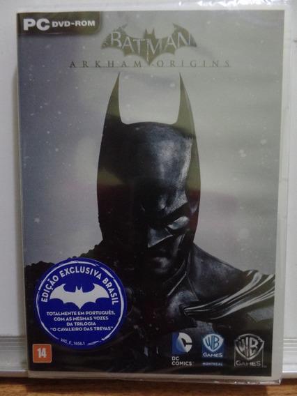 Game Pc Batman: Arkham Origins Novo Lacrado