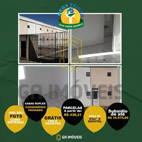 Imagem 1 de 12 de Casas Duplex Em Rio Largo 63 M² Quintal Itbi E Registro Grátis Por Apenas 103mil! - 820
