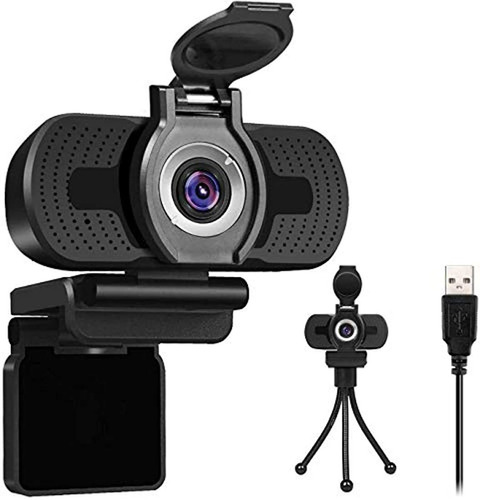Larmtek 1080p Full Hd Webcam Con Cubierta Para Cámara Web, O