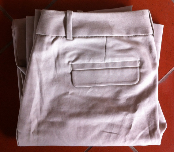 Pantalon De Vestir Para Damas, Color Beige, Talla 30