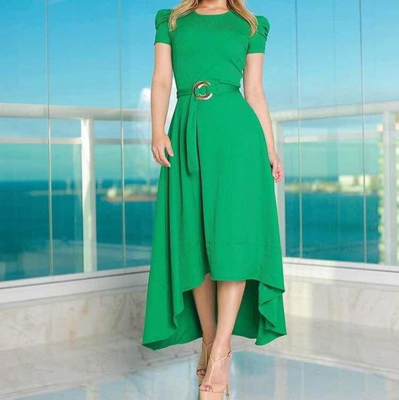 Vestido Mená Brasil Verde Com Cinto Novo E Com Etiqueta