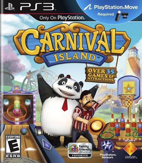 Jogo Carnival Island Game Ps3 Move Novo Original Lacrado Top