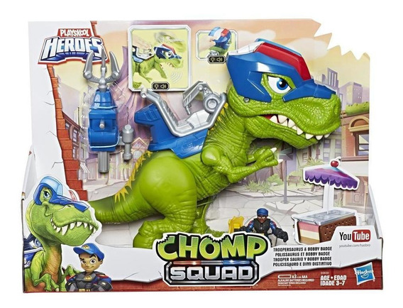 Polisaurio Y Pepe Placa - Playskool Heroes Chomp Squad