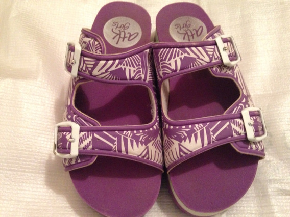 Sandalias Con Plataforma Atomik Color Violeta Talle 32 Usada