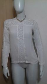 Blusa Branca Com Renda Nova P