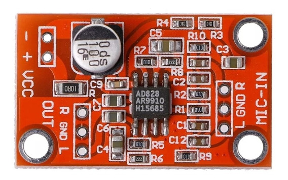 Placa De Pré Amplificação Para Microfones