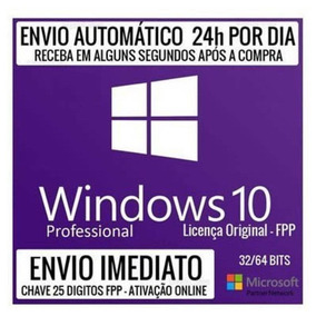 Windows 10 Pro Cahve Licença Original Digital Download Fpp