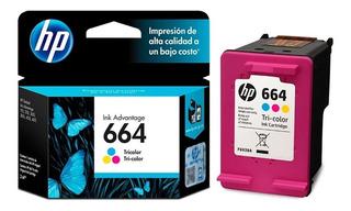 Cartucho Hp 664 Color Original Para 1115 2134 2135 2675 3635