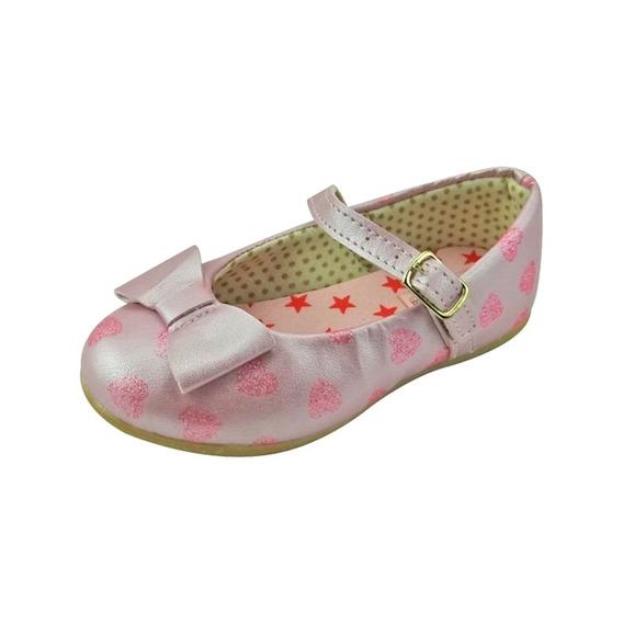 Sapato Boneca Baby Com Laço - Rosa Bebê