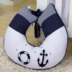 Almofada Amamentação Marinheiro Azul - Enxoval Bebê Menino