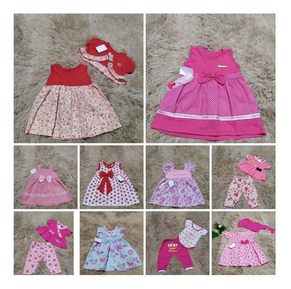 10 Roupinhas Roupas Vestidos Bebê Menina Infantil Promoção