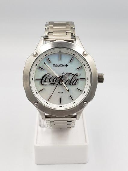 Relógio Masculino Touch Aço Prata Edição Limitada Coca Cola