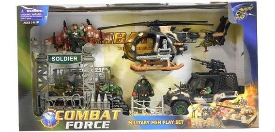 Muñecos Soldados Con Vehiculos De Combate Force