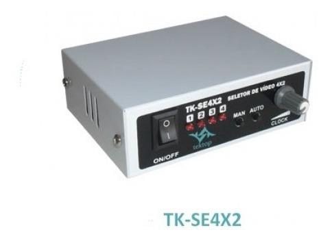 2 Pçs Seletor Vídeo Sequencial Para 4 Câmeras - Conector Bnc